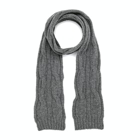 Barbour Blaydon Cable Knit Women's Scarf - Grey
