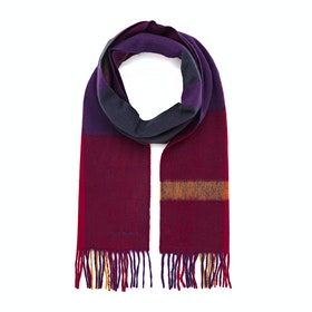 Paul Smith Amanda Check Scarf - Red