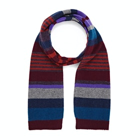 Paul Smith Lew Stripe Scarf - Burgundy