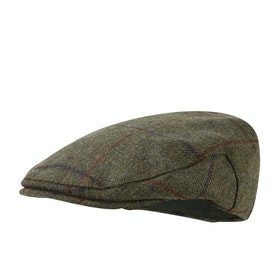Cappello Uomo Christys Hats Balmoral Tweed - Dark Green