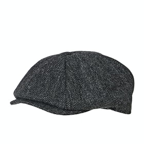 Cappello Christys Hats 8 Piece Melton Wool Flat - Grey Tweed