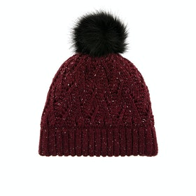 Dents Lace Marl Women's Beanie - Claret
