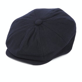 Czapka z daszkiem Christys Hats 8 Piece Melton Wool - Navy