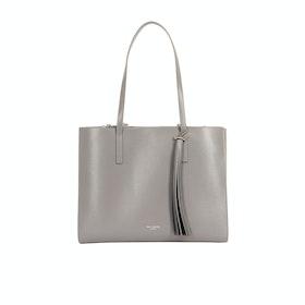 Ted Baker Narissa Leather Tassel Detail Large Tote Damen Einkaufstasche - Dk-grey