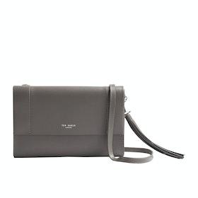 Ted Baker Natalei Leather Tassel Detail Xbody Women's Handbag - Dk-grey