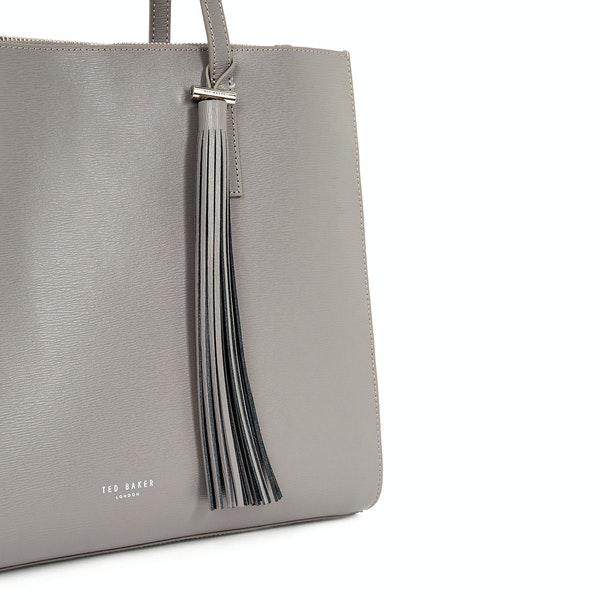 Ted Baker Narissa Leather Tassel Detail Large Tote Женщины Сумка для шопинга