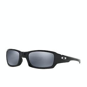 Okulary przeciwsłoneczne Męskie Oakley Fives Squared Polaryzacyjne - Polished Black ~ Black Iridium