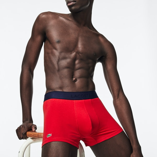 Lacoste Valentines Day 3 Pack Trunk Boxer Shorts