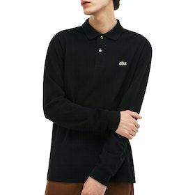Lacoste Basic Long Sleeved Pique Herren Polo-Shirt - Black