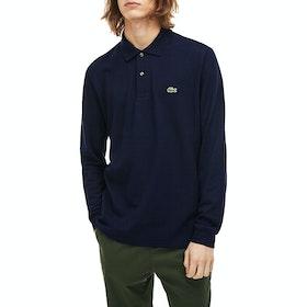 Lacoste Basic Long Sleeved Pique Herren Polo-Shirt - Navy Blue