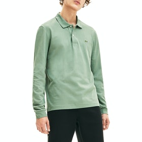 Lacoste Basic Long Sleeved Pique Men's Polo Shirt - Green