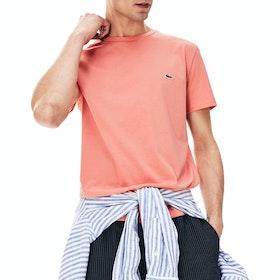 Lacoste Crew Neck Men's Short Sleeve T-Shirt - Elf Pink