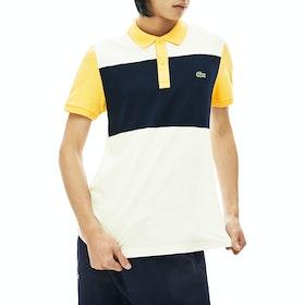 Lacoste Ribbed Collar Polo-Shirt - Flour Navy Blue Daba