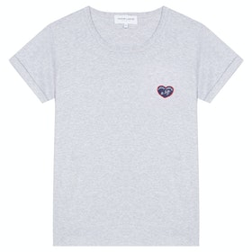 T-Shirt a Manica Corta Donna Maison Labiche Classic Mlb Te Kiffe - Light Heather Grey