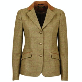 Dublin Albany Tweed Suede Collar Tailored Ladies Competition Jackets - Brown