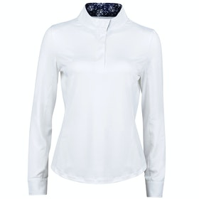 Dublin Ria Long Sleeve Ladies Competition Shirt - White Navy