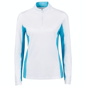 Dublin Airflow Cdt Long Sleeve Tech Dames Top - White Aqua