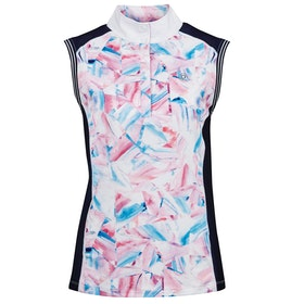 Dublin Katie Printed Sleeveless Ladies Competition Shirt - Geo Print