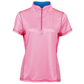 Dublin Kylee Printed Short Sleeve Ladies Top - Carmine Pink