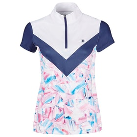Dublin Orla Printed Colour Block Ladies Competition Shirt - Geo Print