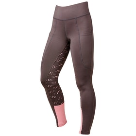 Dublin Performance Cool-It Dot Print Gel Ladies Riding Tights - Grey