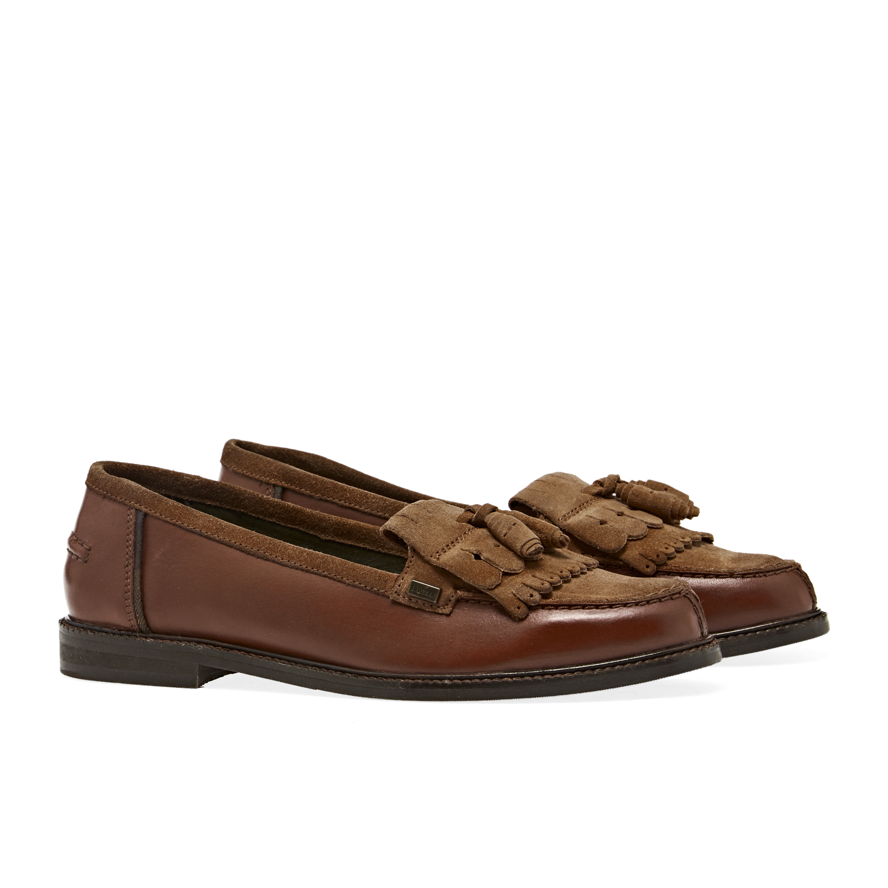 half off uk store hot sale online Barbour Olivia Tassel Loafers Dress Shoes - Tan | Country Attire UK