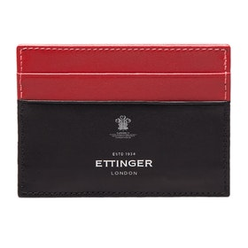 Portfel Ettinger Flat Credit Card Case - Red