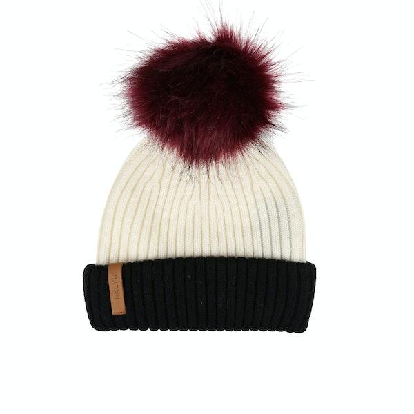 BKLYN Merino Faux Fur Pom Женщины Лыжная шапка