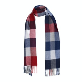 Gant Multi Check Wool Scarf - Mahogany Red
