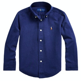 Polo Ralph Lauren Cotton-Blend Junior Boy's Shirt - Newport Navy