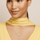 Ted Baker Pelsina Medium Pearl Bow Pendant Necklace