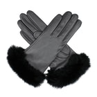 Dents Glamis Silk Lined Leatherwith Fur Cuffs Womens 手袋