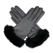 Guanti Donna Dents Glamis Silk Lined Leatherwith Fur Cuffs
