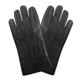 Dents Hastings Fleece Lined Hairsheep Leather Men's Gloves - Black
