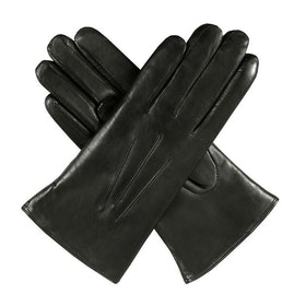 Dents Ripley Fur Lined Leather Women's Gloves - Black