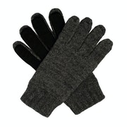 Dents Stirling Lambswool Knittedwith Leather Palm Patch Mens Rukavice
