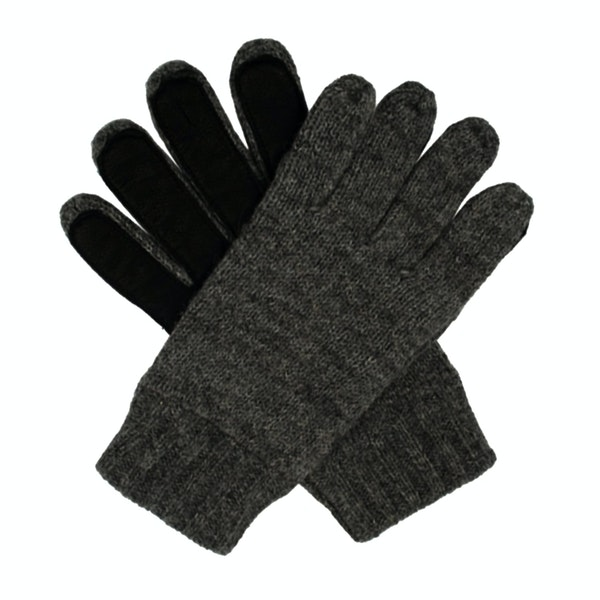 Dents Stirling Lambswool Knittedwith Leather Palm Patch Men's Gloves