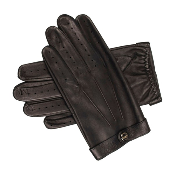 Dents James Bond Spectre Perforated Leather Driving Men's Gloves