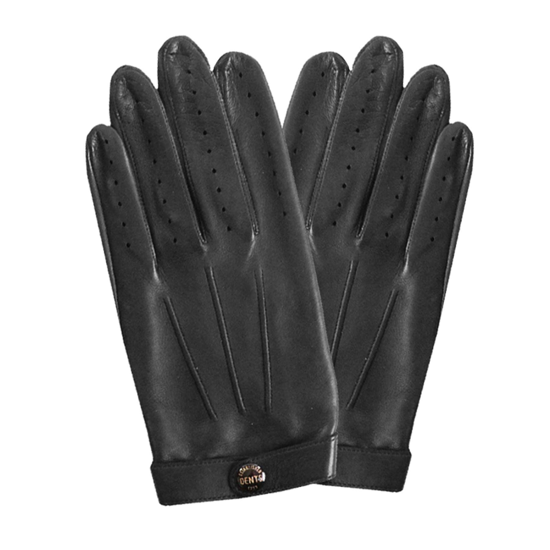 Dents Fleming James Bond Spectre Black Leather Driving Gloves Sz S