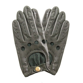 Dents Delta Leather Driving Men's Gloves - British Racing Green