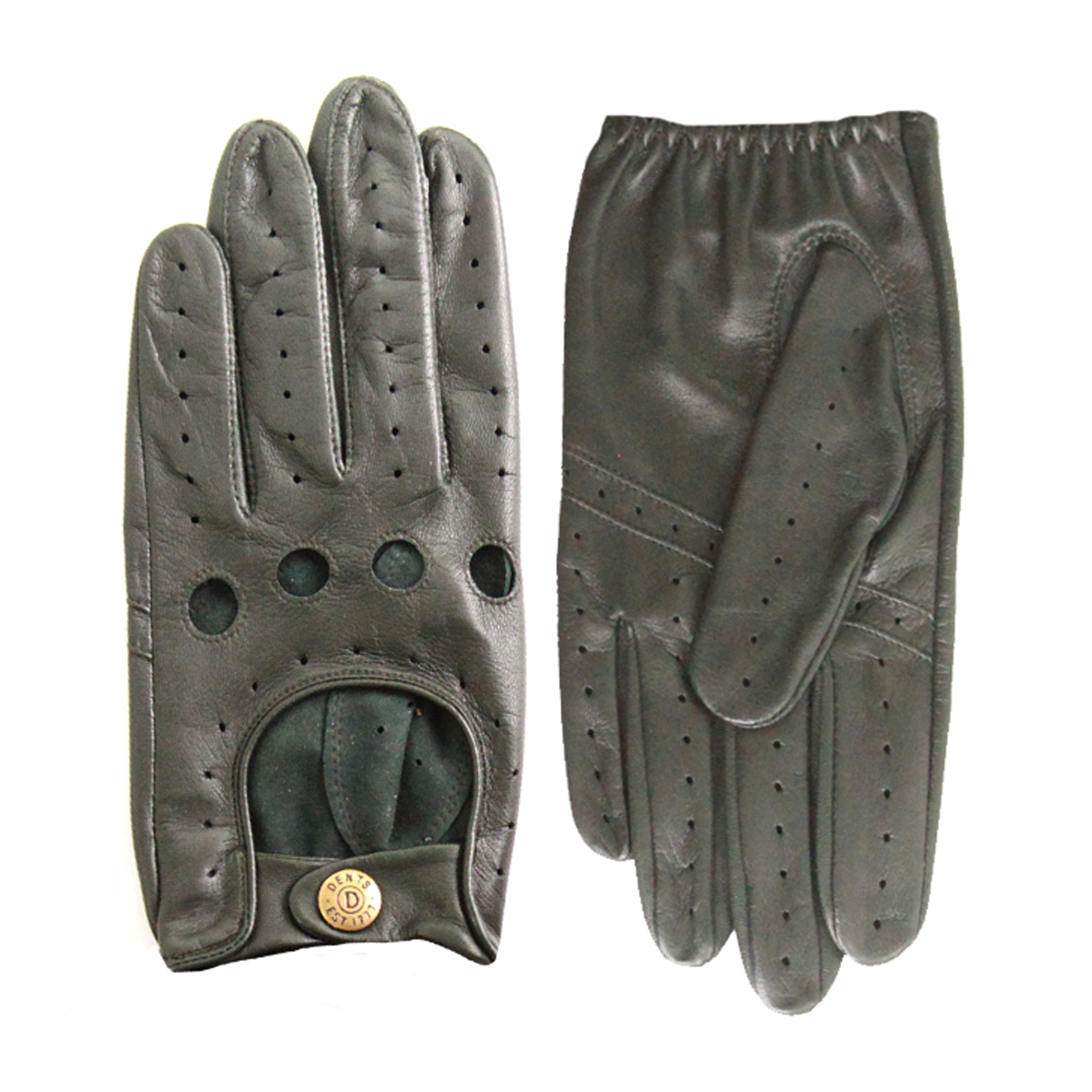Dents Mens Delta Classic Leather Driving Gloves British Racing Green