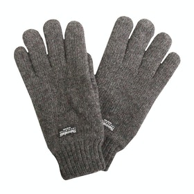Dents Durham Thinsulate Lined Knitted Herren Handschuhe - Charcoal