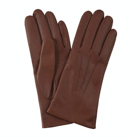 Dents Cashmere Lined Leather Women's Gloves - Cognac
