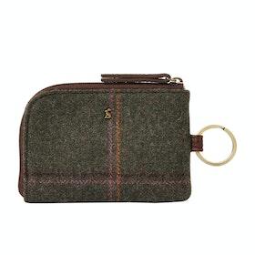Joules Everleigh Tweed Women's Purse - Dark Green Grid