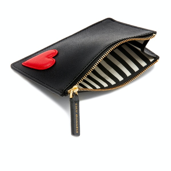 Lulu Guinness Heart Lottie Pouch Women's Card Holder