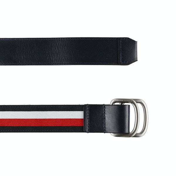 Cinto de Couro Tommy Hilfiger Urban D-ring