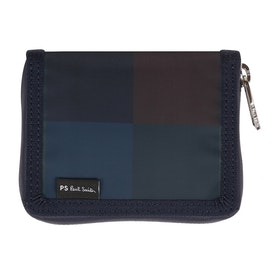 Paul Smith Nylon Check ウォレット - Navy