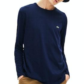 Lacoste 2 Langarm-T-Shirt - Navy Blue