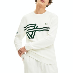 Maglione Lacoste Full Needle Knit - Flour Black Green Flour