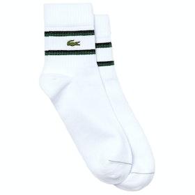 Skarpety Lacoste Rib - White Black Green White
